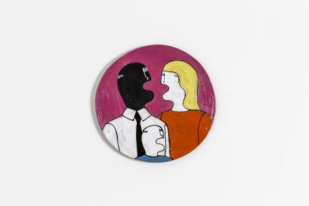 Fabrizio Dusi Classic family ceramica coppia mista incomunicabilità