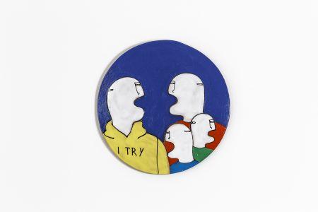 Fabrizio Dusi Classic family ceramica coppia gay incomunicabilità