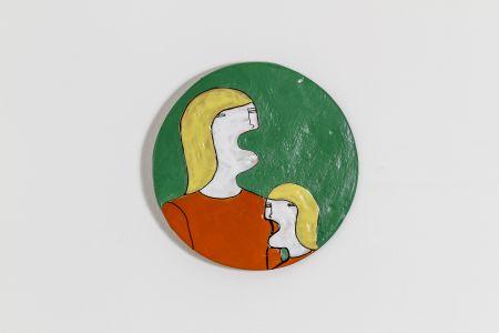 Fabrizio Dusi Classic family ceramica single ragazza madre incomunicabilità