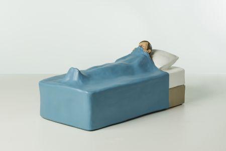 Nando Crippa Frenzy scultura terracotta dipinta