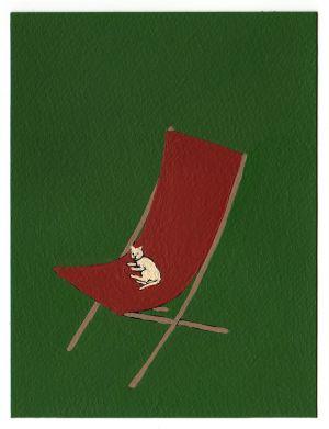 Nando Crippa cartolina disegno gatto