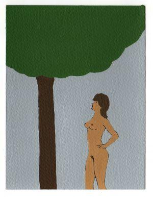 Nando Crippa Cartolina disegno Eva