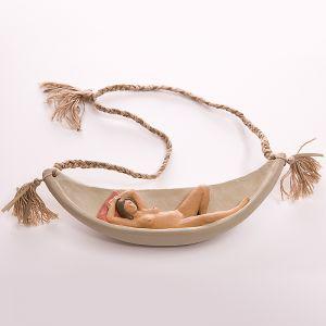 Nando Crippa gioielli d'artista Maya desnuda terracotta amaca