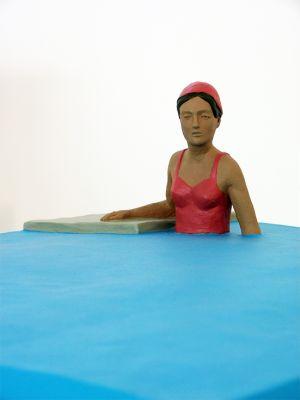 Nando Crippa Piscina De Chirico scultura terracotta