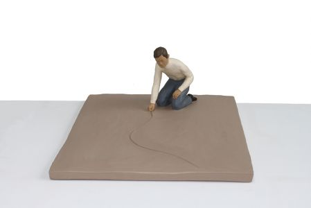 Nando crippa tiralinee scultura terracotta