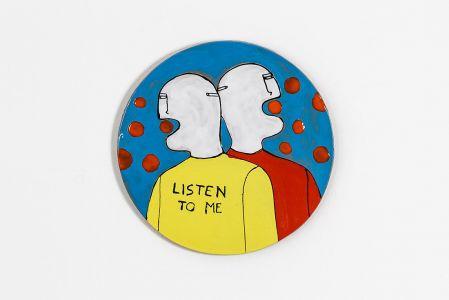 Fabrizio Dusi Classic family ceramica coppia gay blablabla incomunicabilità