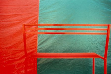 Franco Fontana Modena panchina rossa cibachrome print