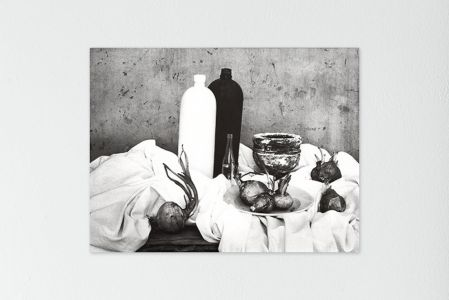 Mario Giacomelli matura morta bianco nero