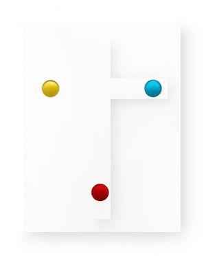 Mimmo Iacopino stigmate croce colori primari velluto raso