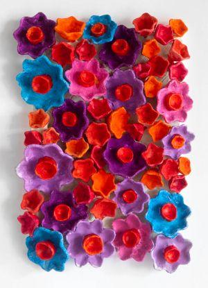 Kazumasa Mizokami tappeto fiorito fiori terracotta Giappone
