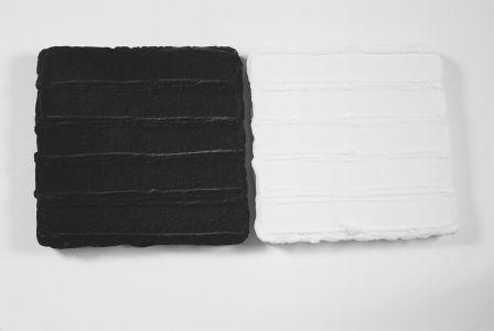 Pino Pinelli artista Pittura analitica black&white