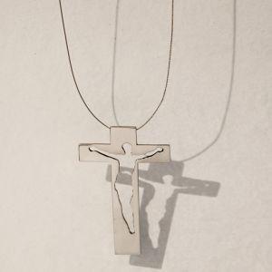 Simona Uberto gioielli d'artista croce acciaio inox