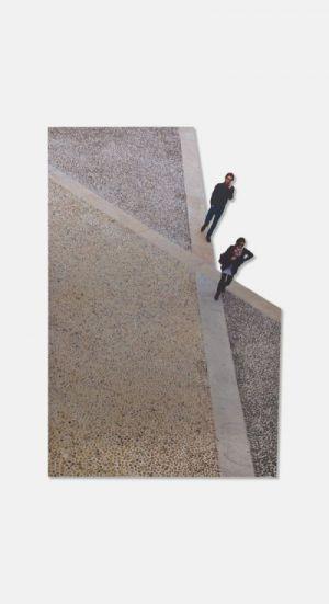 Simona Uberto Piazza Duomo Milano people figure sagomate