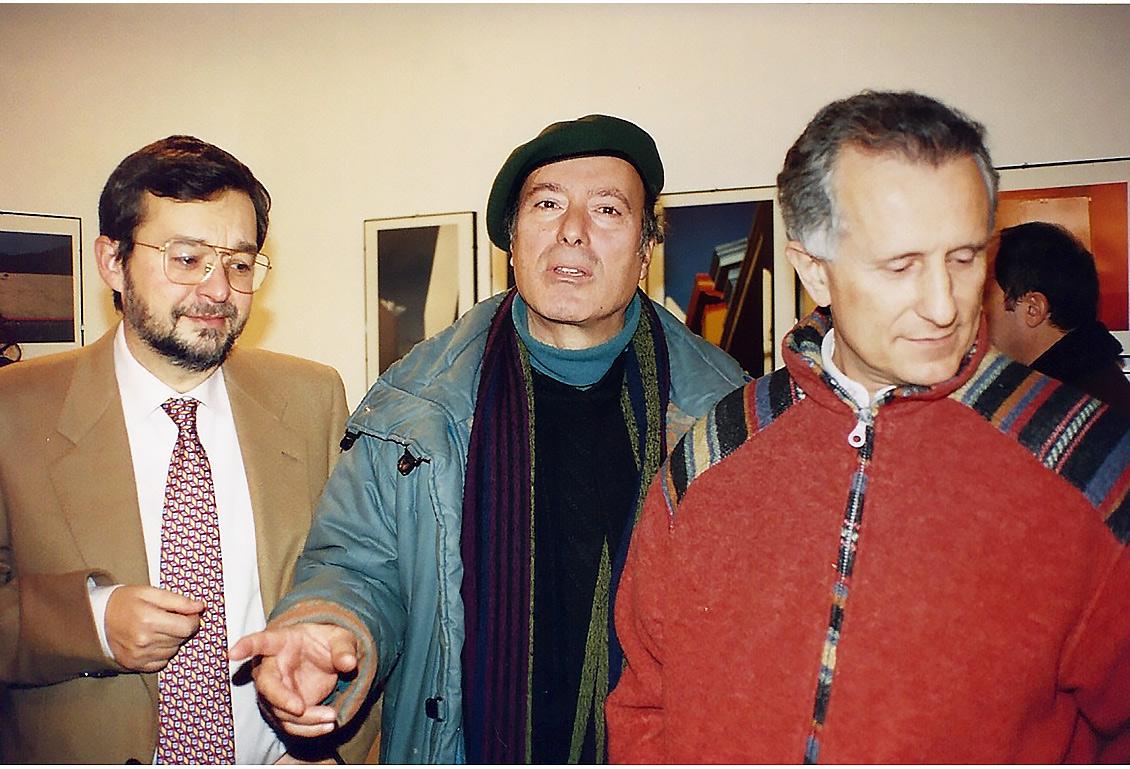 Tino Stefanoni alla Mostra di Franco Fontana