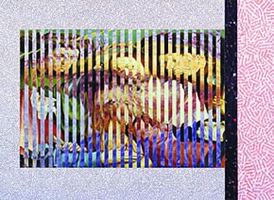 In contemplazione. Omaggio a Van Gogh, 1989 - rollage
