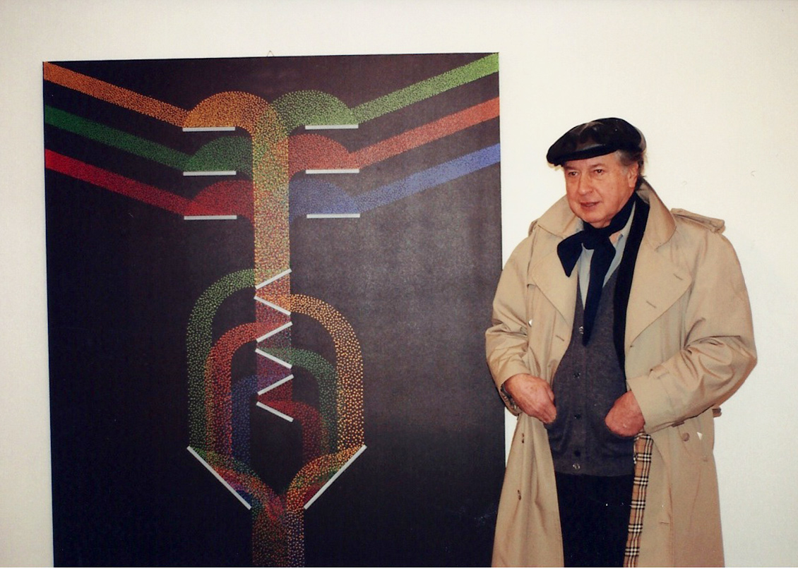 Julio Le Parc durante la mostra Alchimie