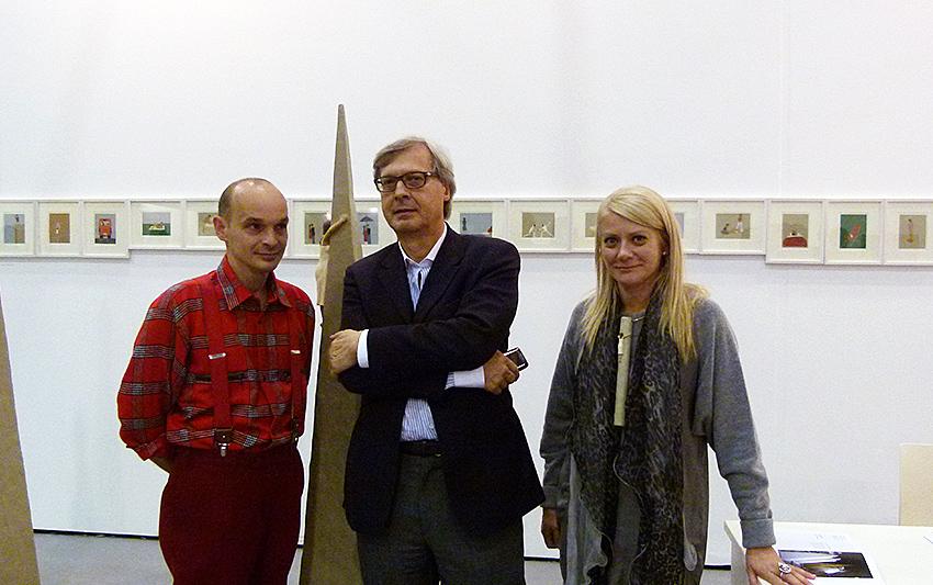 Nando Crippa, Vittorio Sgarbi e Sabina Melesi