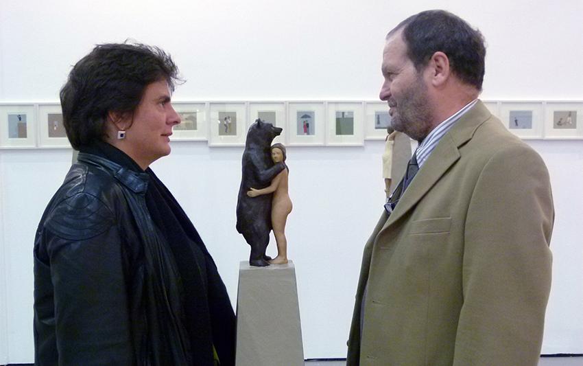 Angela Madesani con Massimo Simonetti