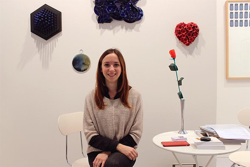 Angelica Consoli alla fiera BAF 2016 nello Stand di Galleria Melesi