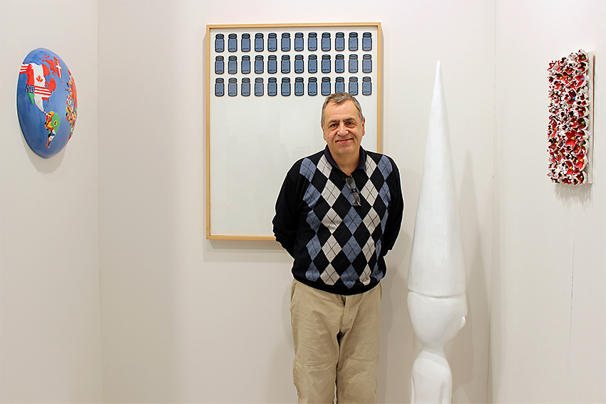 Gianni Cella alla fiera BAF 2016 nello Stand di Galleria Melesi