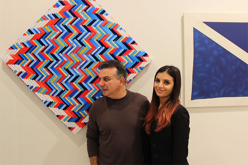 Mimmo Iacopino con la figlia Alice alla fiera BAF 2016 nello Stand di Galleria Melesi