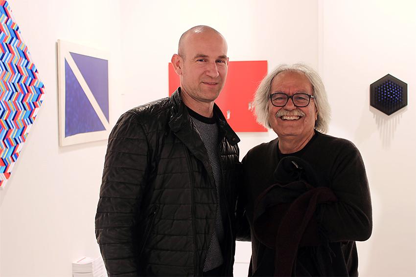 Fabrizio Dusi e Pino Deodato alla fiera BAF 2016 nello Stand di Galleria Melesi