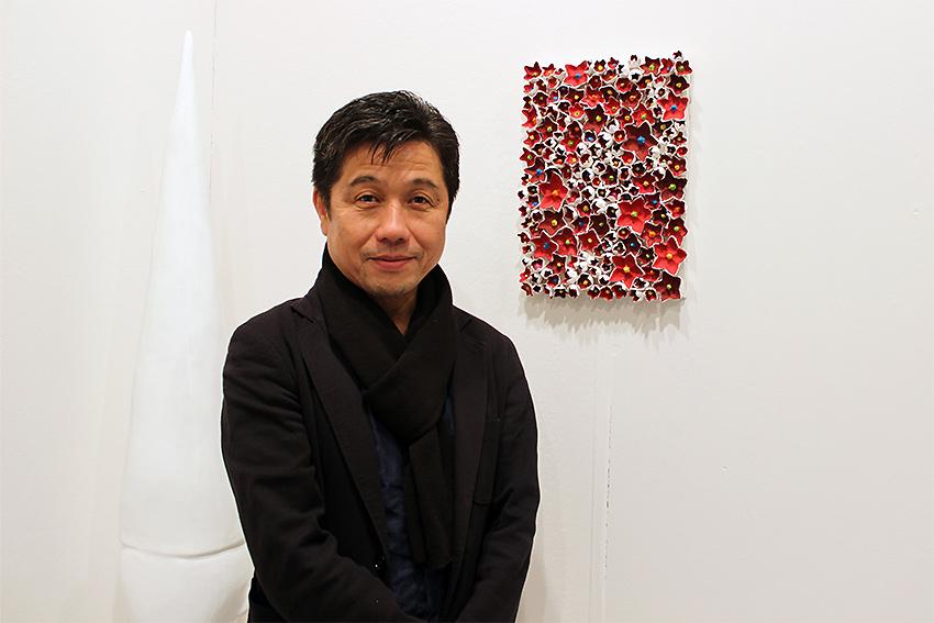 Kazumasa Mizokami alla fiera BAF 2016 nello Stand di Galleria Melesi