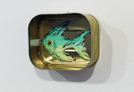 Corrado Bonomi mare latta pesci concettuale ironico scatola del tonno