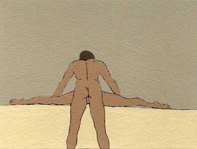 Nando crippa cartolina erotica disegno lui e lei