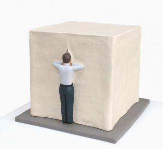 Nando Crippa Tenda scultura terracotta mistero