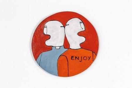 Fabrizio Dusi Classic family ceramica coppia prete gay incomunicabilità