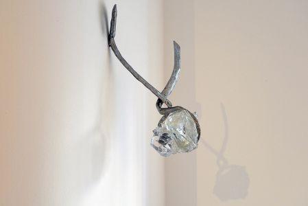 Eduard Habicher acciaio vetro Murano scultura da parete