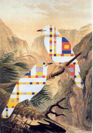 Jiri Kolar collage rollage chiasmage Praga artista ceco Ornitologie