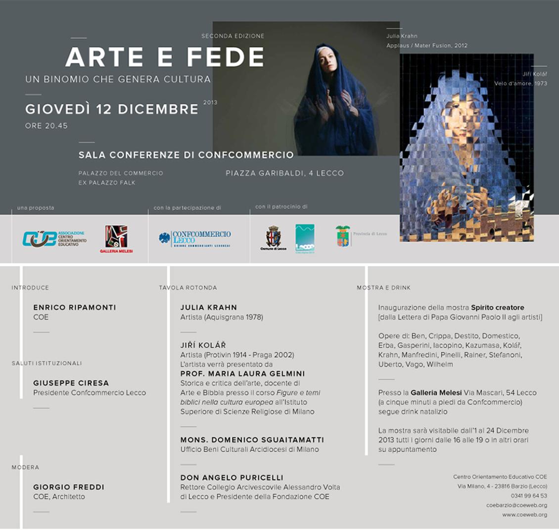 Locandina Arte e Fede 2013