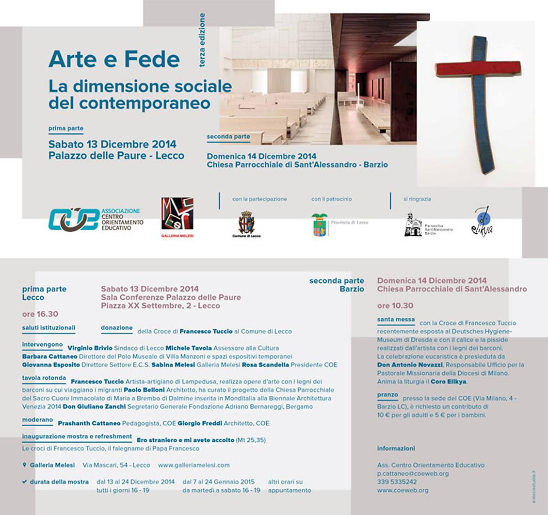 Locandina di Arte e Fede con Francesco Tuccio