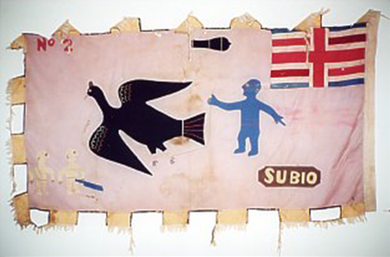 Bandiera Asafo rosa del Ghana