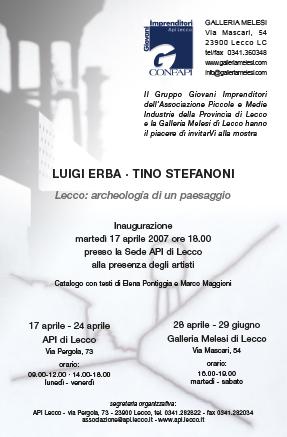 Locandina presentazione evento con Tino Stefanoni e Luigi Erba