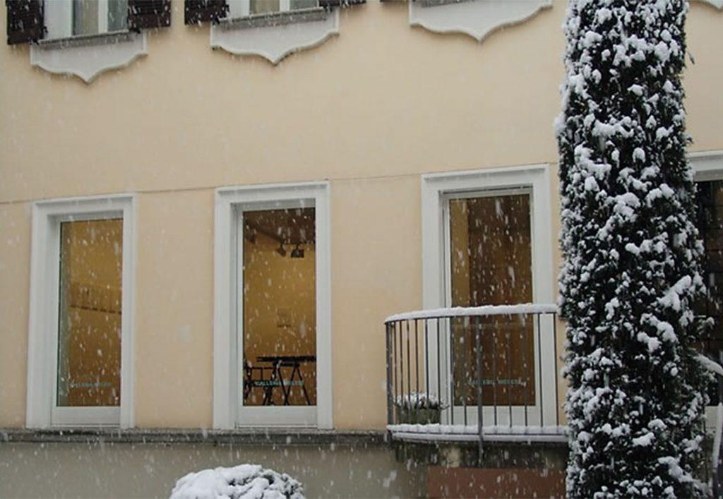 La Galleria Melesi a Lecco in inverno