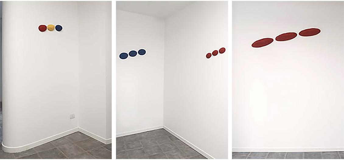 Pino Pinelli Anni '80 opere su parete