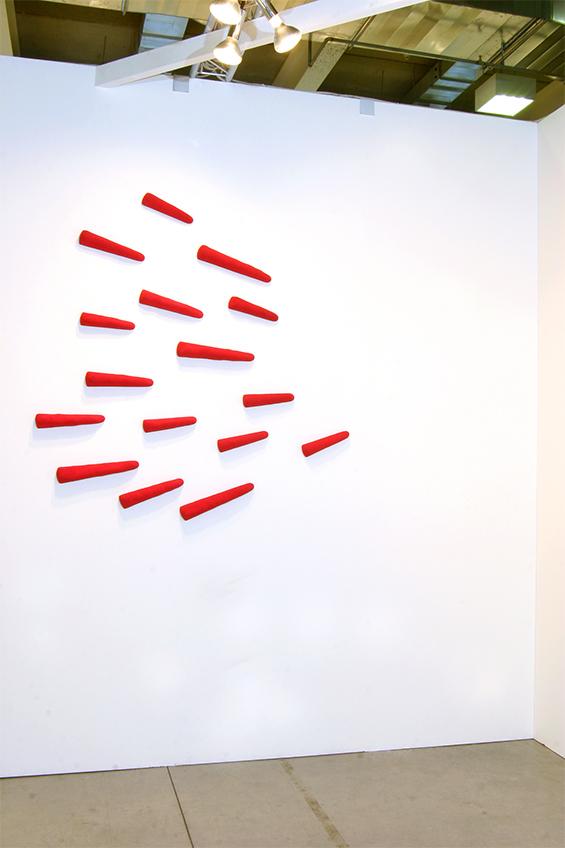Opera di Pino Pinelli per la mostra Anni '80
