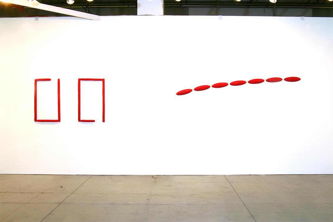 Opere di Pino Pinelli per la mostra Anni '80