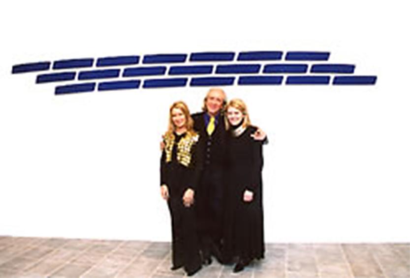 Pino Pinelli con Susanna e Sabina