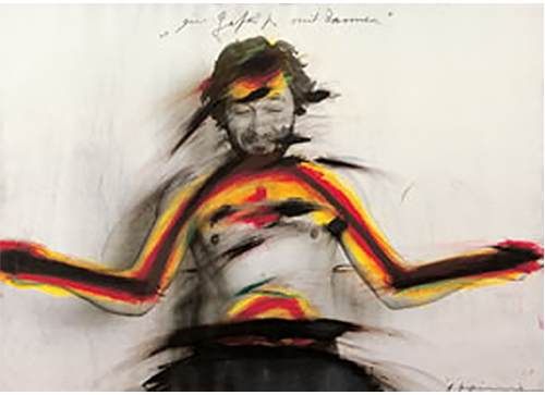 Arnulf Rainer per la mostra Body Language