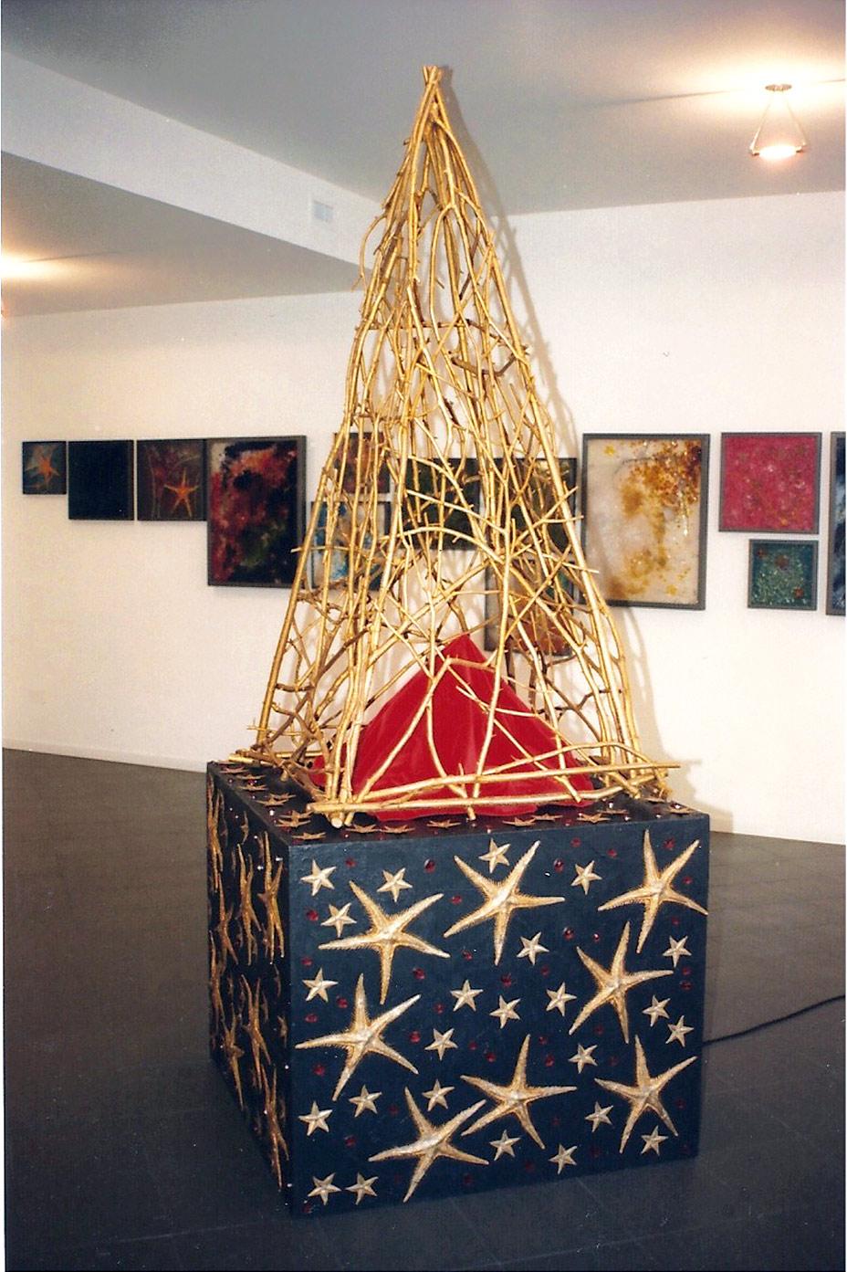 Un'opera della mostra arca