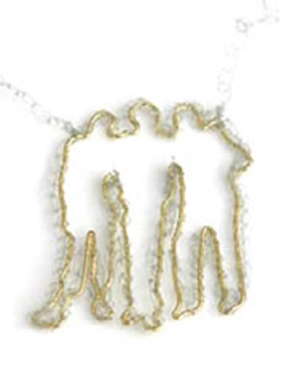 Gioiello filo d'oro e nylon