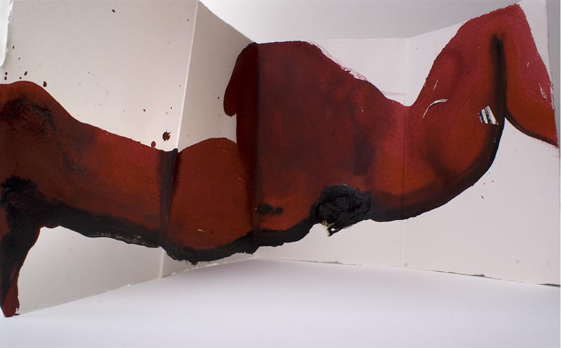 Opera su parete di Alessandro Verdi per la mostra Io parlo ad alta voce