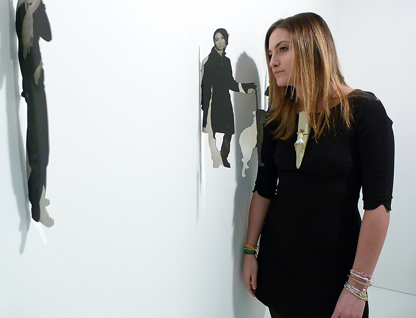 Angela Faravelli con opere Simona Uberto