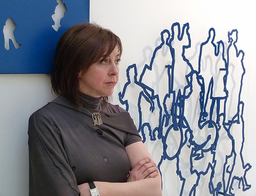 Simona Uberto con opere