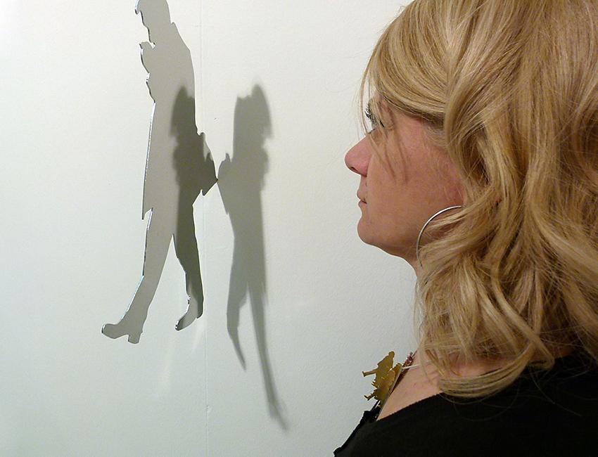 Sabina Melesi con opera Simona Uberto