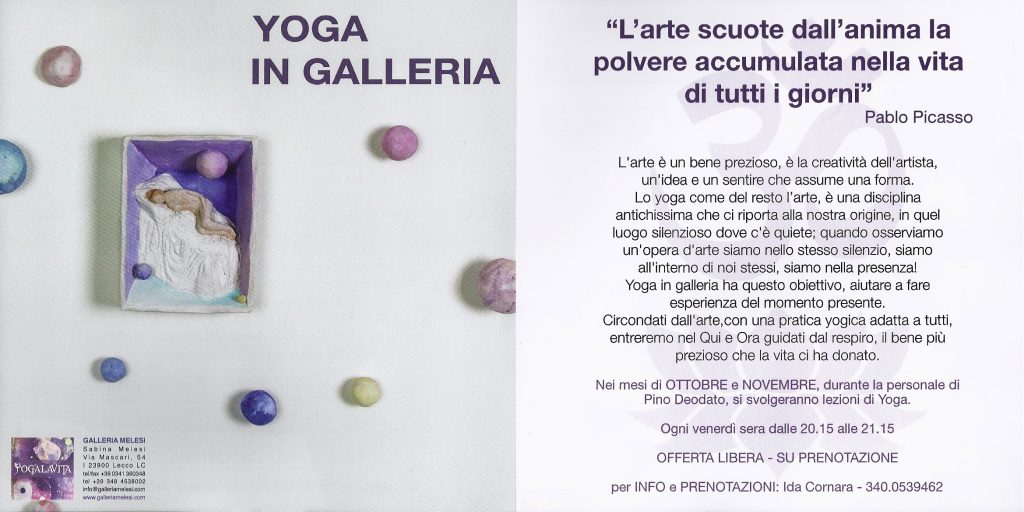 Yoga in galleria